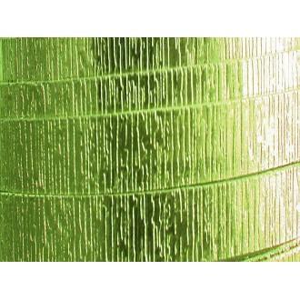 1 Mètre fil aluminium plat strié vert pomme 20mm Oasis ®