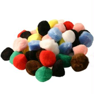 Pompons couleurs assorties 35 mm x 50