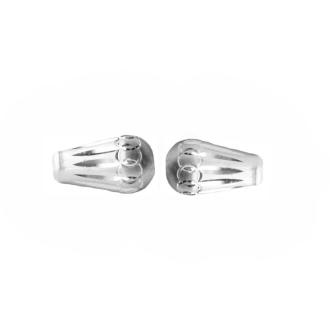 10 Perles Poires 10.5mm Argent