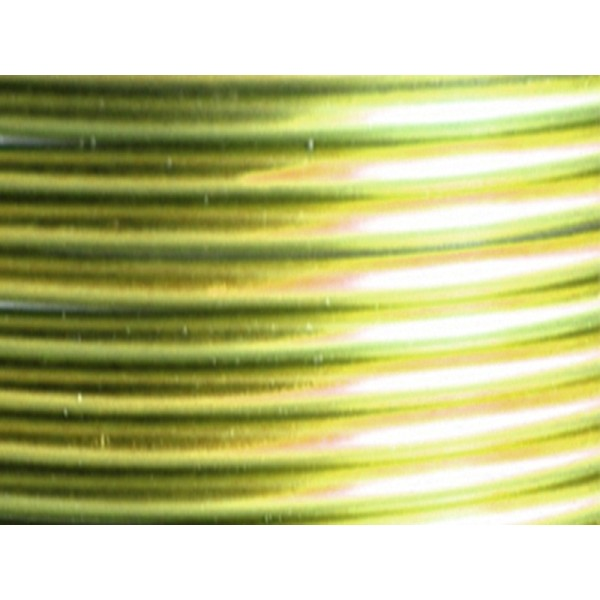 5 Mètres fil aluminium vert pomme 4mm Oasis ® - Photo n°1