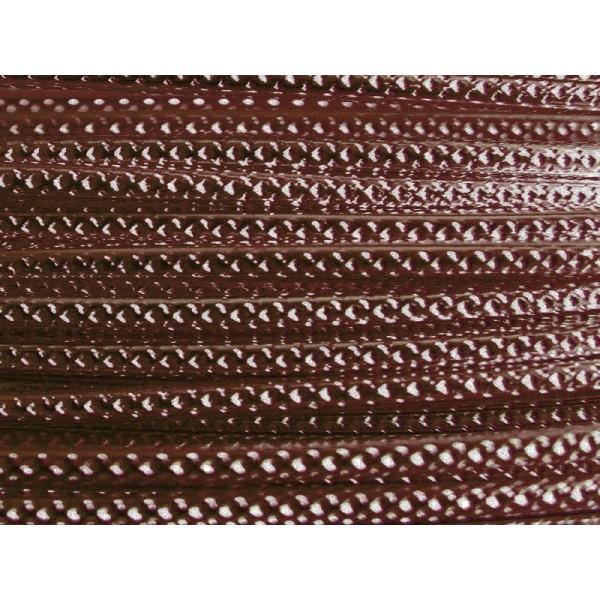 2 Mètres fil aluminium strié chocolat 2mm Oasis ® - Photo n°1