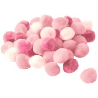 Pompons 15 mm dégradé rose x 45