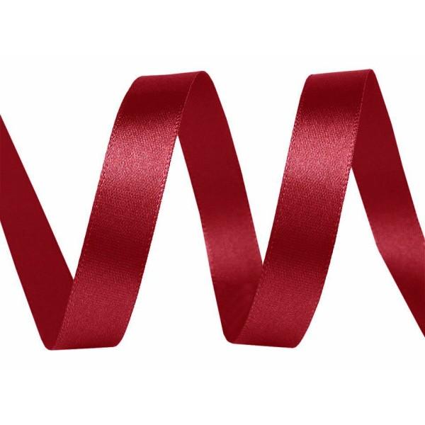 5m 33 la Lumière de Vin Rouge de Ruban de Satin Paquets Par 5m de Largeur 10mm, des Fournitures d'Ar - Photo n°1