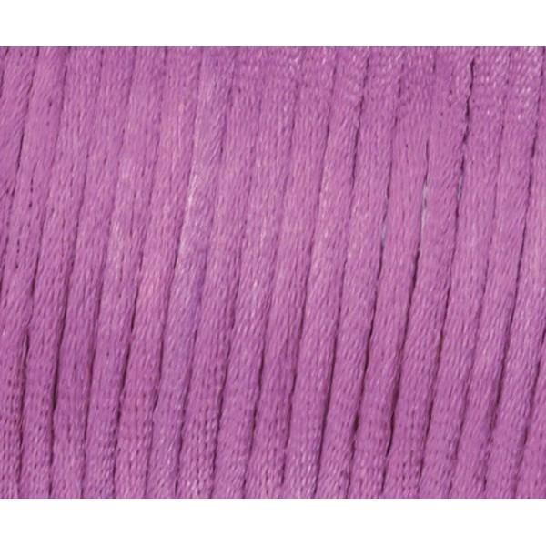 Ruban de Satin Kumihimo, Boho, Wrap, Bobo Bijoux, la Force de 2mm - Violet, Efco, Ficelle, Ruban, Dé - Photo n°1