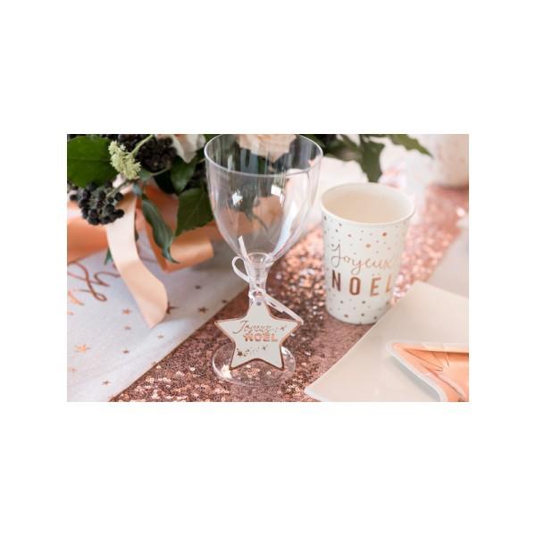 Marque-places rose et blanc x12 - Photo n°2