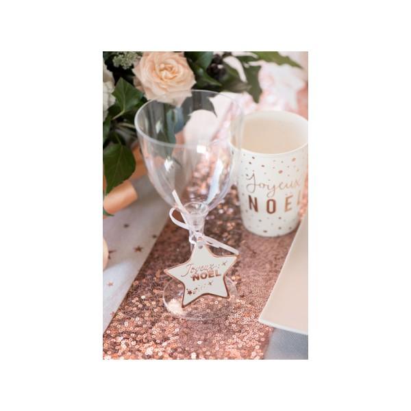 Marque-places rose et blanc x12 - Photo n°3