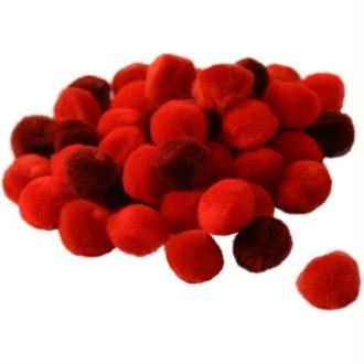 Pompons 15 mm dégradé rouge x 45