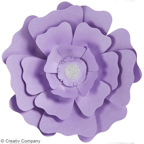 Fleurs en papier à assembler - Différents coloris - 15 et 25 cm - 2 pcs - Photo n°3