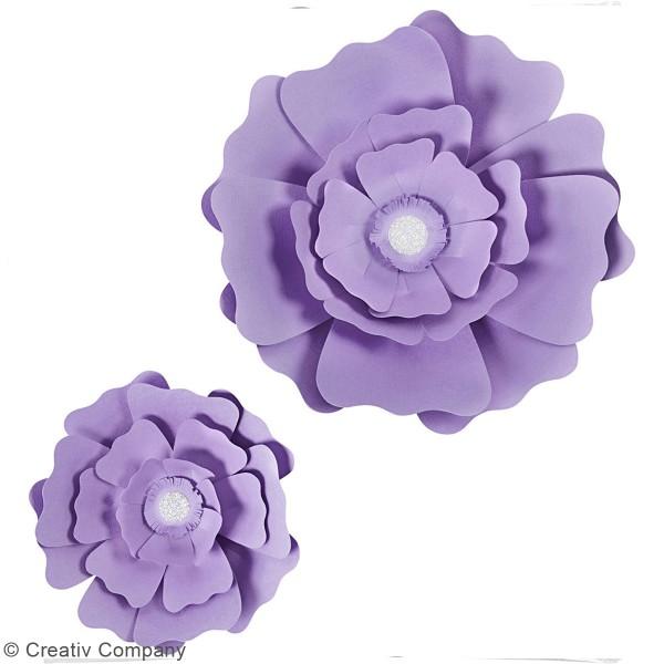 Fleurs en papier à assembler - Différents coloris - 15 et 25 cm - 2 pcs - Photo n°4