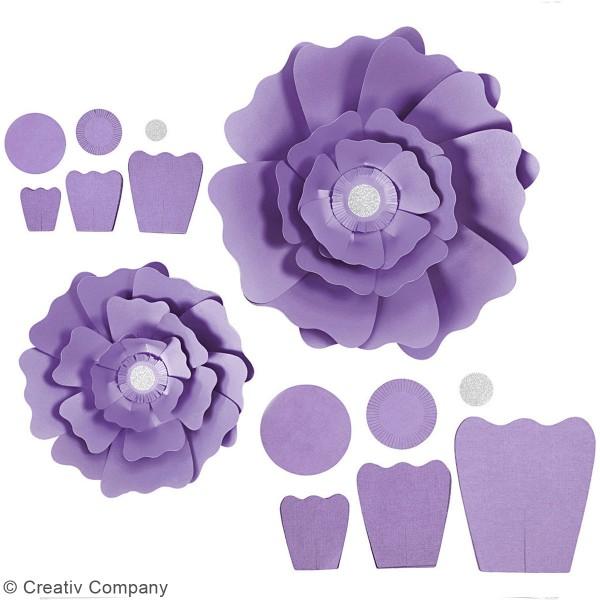 Fleurs en papier à assembler - Différents coloris - 15 et 25 cm - 2 pcs - Photo n°6