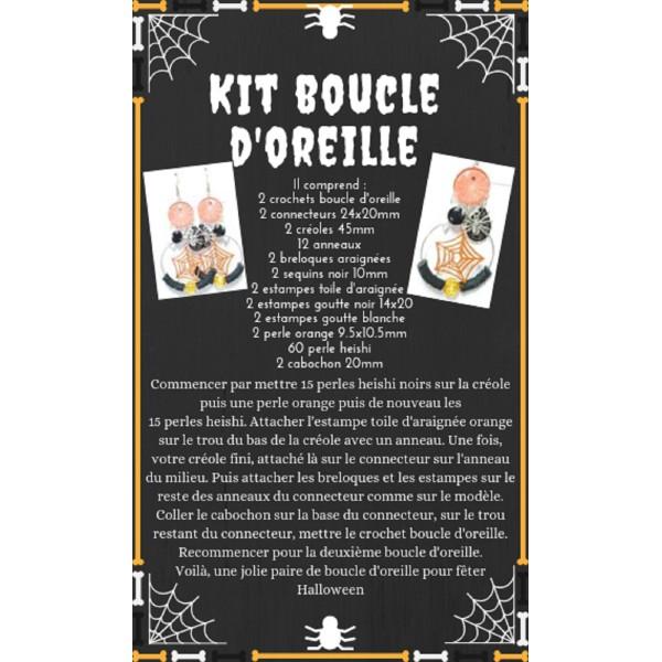 Boucle D'Oreille Kit Thème Halloween - Photo n°1