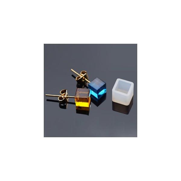 S1186540 PAX 5 MOULE EN SILICONE pendentif CARRE 7 par 7mm utilisation FIMO RESINE - Photo n°1