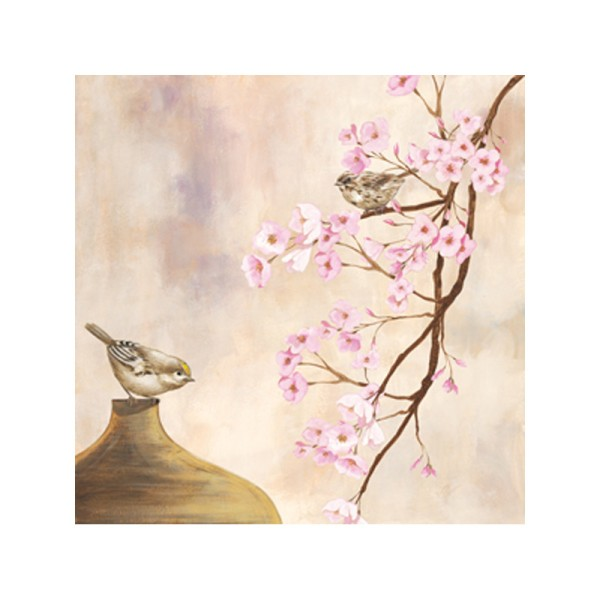 Image 3D - NCN 4861 - 40x40 - Oiseaux et branches fleuries 2 - Photo n°1