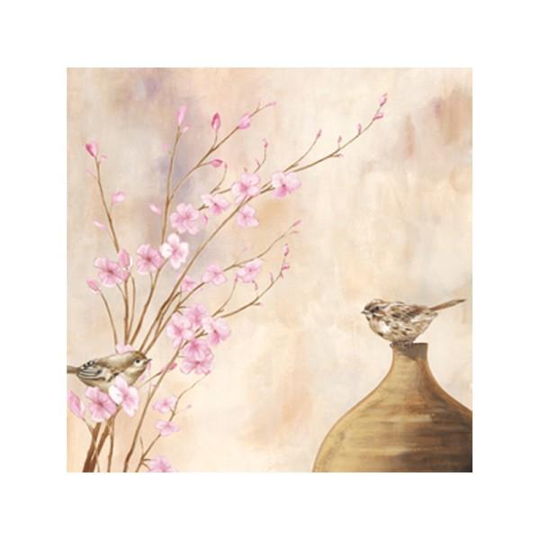 Image 3D - NCN 4860 - 40x40 - Oiseaux et branches fleuries - Photo n°1