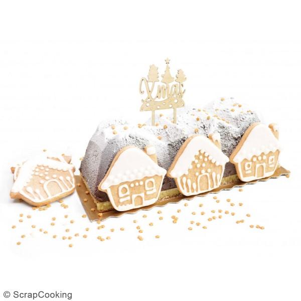Décoration Cake Topper en bois Noël - Xmas - 9 x 13 cm - Photo n°2