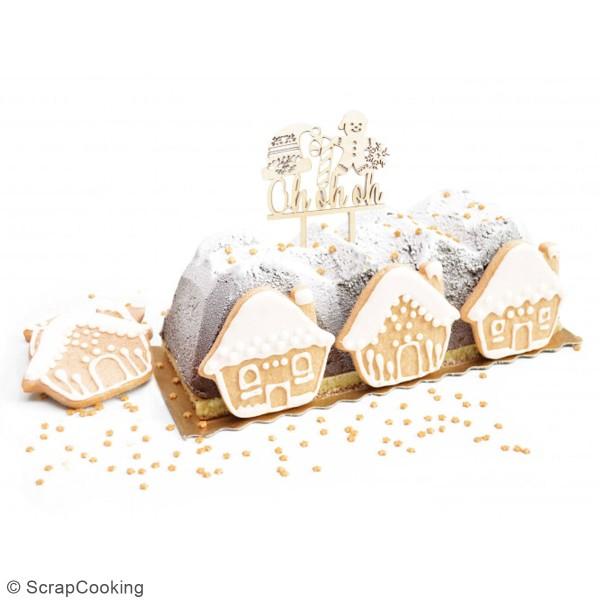 Décoration Cake Topper en bois Noël - Ohohoh - 9 x 13 cm - Photo n°2