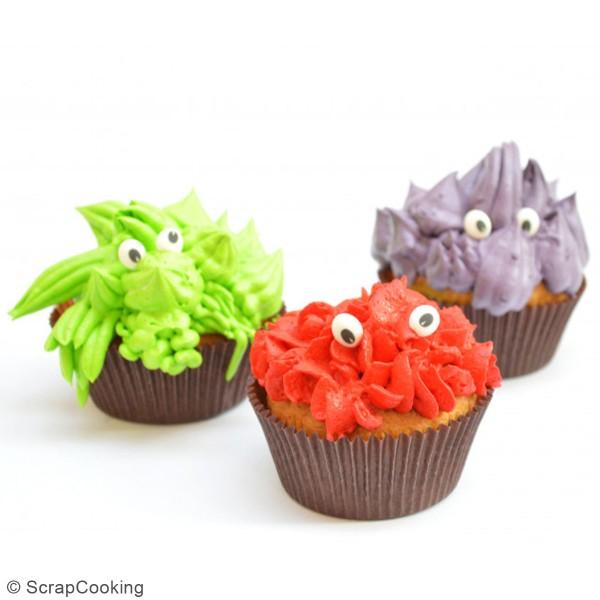 Décoration sucre pour gâteaux - Yeux - 63 pcs - Photo n°2