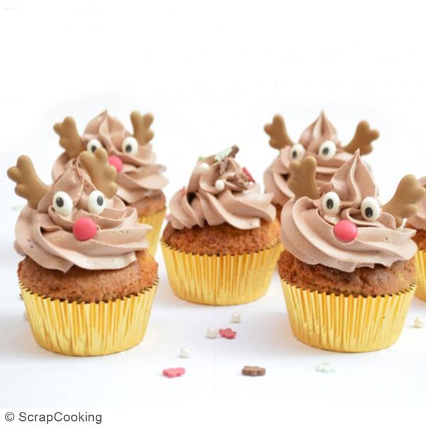 Décoration sucre pour gâteaux - Têtes de rennes - 6 pcs - Photo n°2