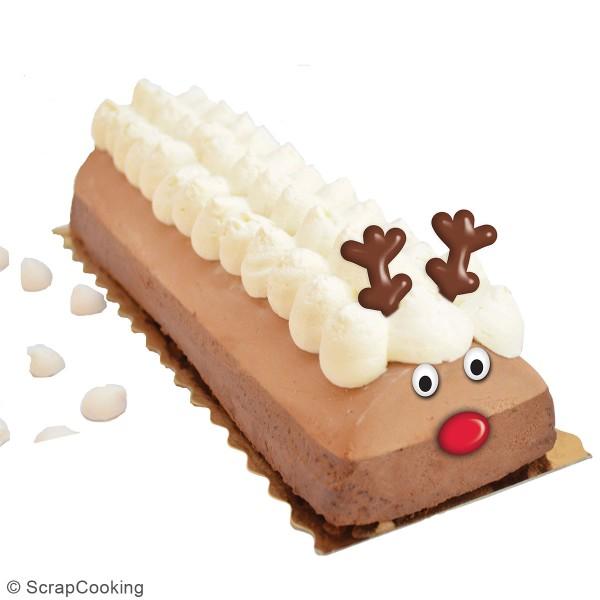 Décoration sucre pour gâteaux - Têtes de rennes - 6 pcs - Photo n°3