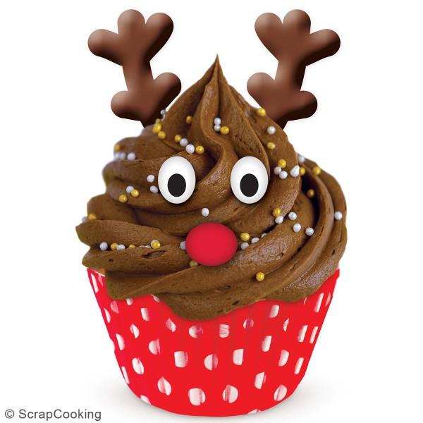 Décoration sucre pour gâteaux - Têtes de rennes - 6 pcs - Photo n°4