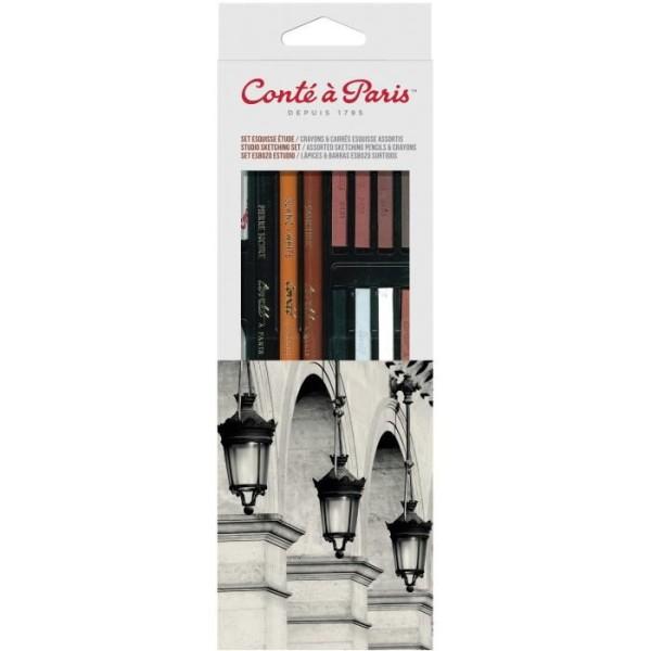 Set Esquisse Etude Crayons et Carrés Assortis - Photo n°2