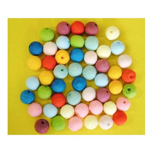 25pcs Multicolore Mix Tour de Filé de Coton tchèque Perles en pâte FIMO Forme Vide Décor à la Maison - Photo n°2