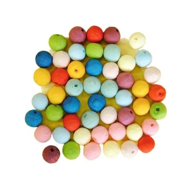 25pcs Multicolore Mix Tour de Filé de Coton tchèque Perles en pâte FIMO Forme Vide Décor à la Maison - Photo n°1