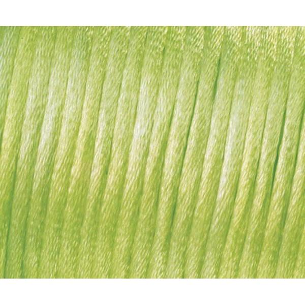 Ruban de Satin Kumihimo, Boho, Wrap, Bobo Bijoux, la Force de 1mm - Vert clair, Efco, Ficelle, Ruban - Photo n°1