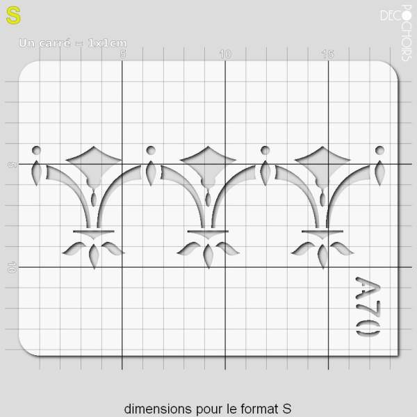 Pochoir frise géométrique - Photo n°3