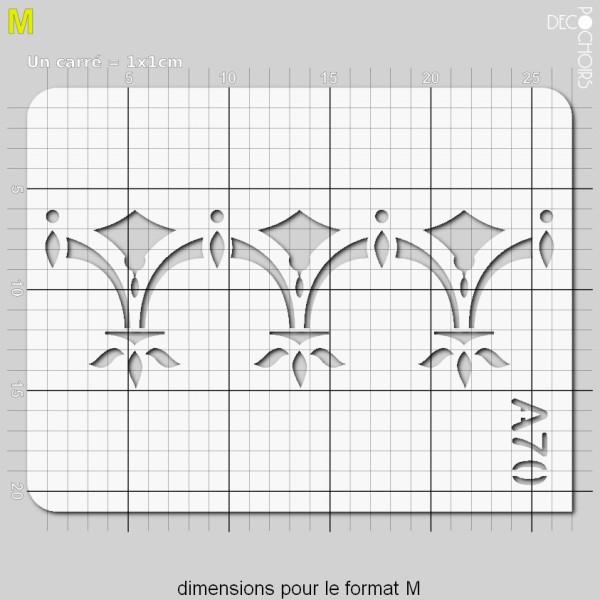 Pochoir frise géométrique - Photo n°4