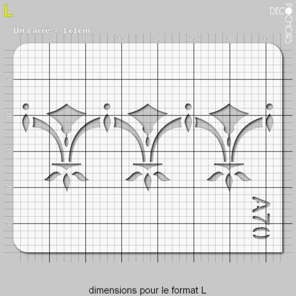 Pochoir frise géométrique - Photo n°5