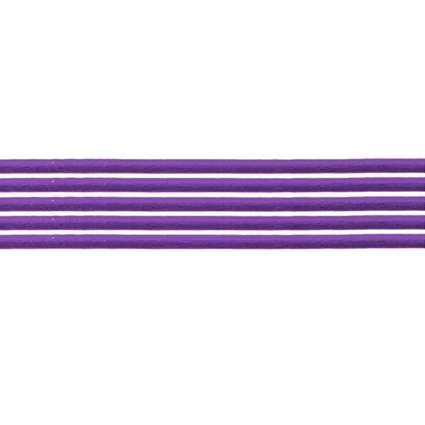 2 mètres de Cuir Violet 1,5 mm - Photo n°1
