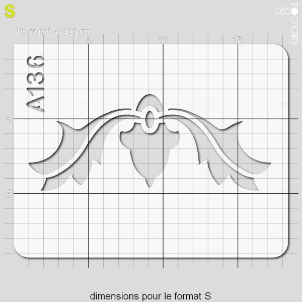 Pochoir frise arabesques - Photo n°3