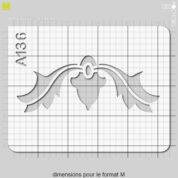 Pochoir frise arabesques - Photo n°4