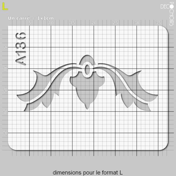 Pochoir frise arabesques - Photo n°5