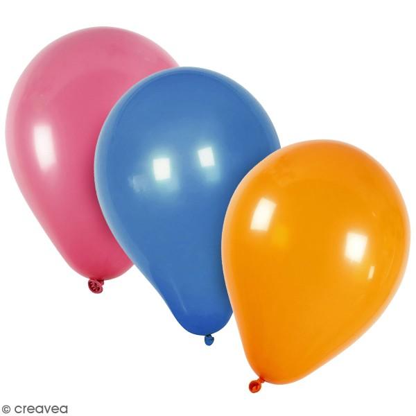 Ballons ronds 23 cm - Plusieurs coloris - 10 pcs - Photo n°1