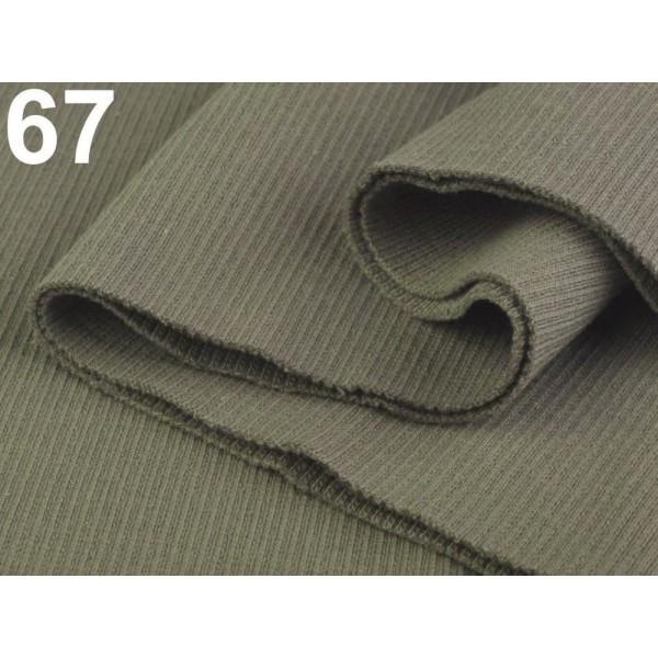 1pc 67 Coriandre Nervures / Élastique Rib Tricot 16x80 Cm, Mercerie, - Photo n°1
