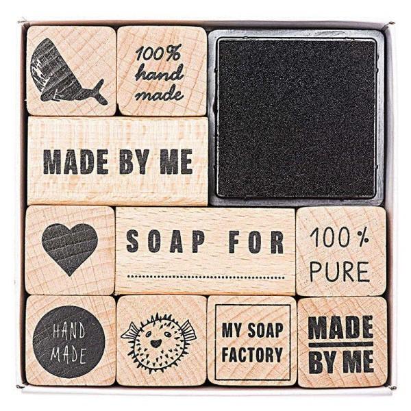 Coffret de tampons pour savons 100% authentique - Photo n°1
