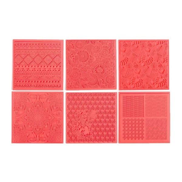 6 tapis de texture pour FIMO - Photo n°1