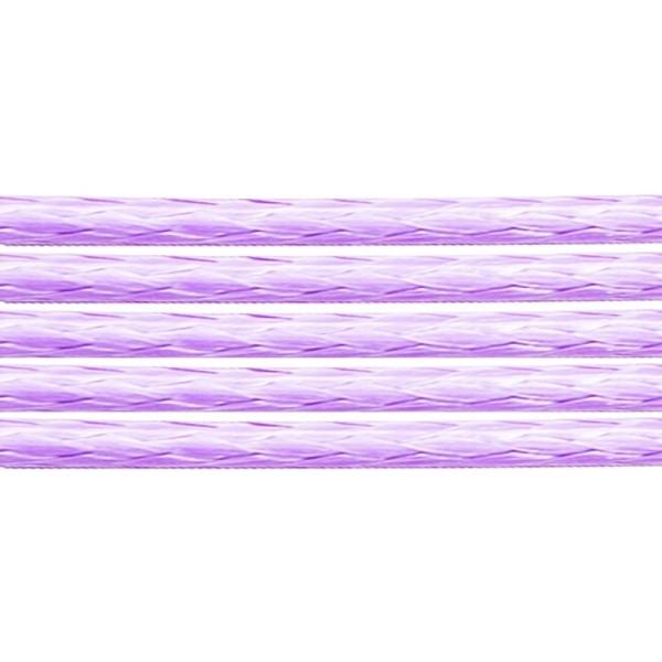 80 Mètres de coton ciré Lilas 1,5 mm - Photo n°1