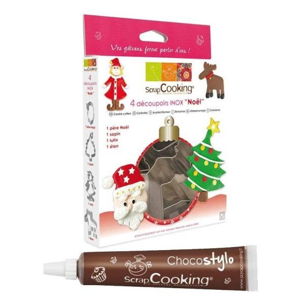 Emporte-pièces Noël + 1 Stylo chocolat offert - Photo n°1