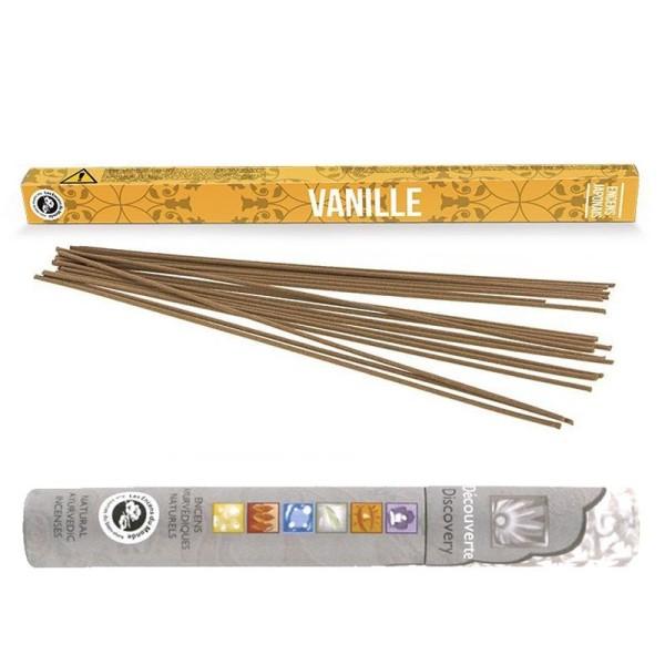Encens japonais vanille 12 bâtonnets + encens ayurvédique 14 bâtonnets - Photo n°1