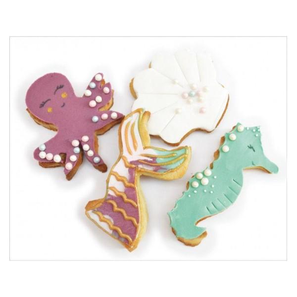 4 Découpoirs à biscuits en inox - Sirène - Photo n°2