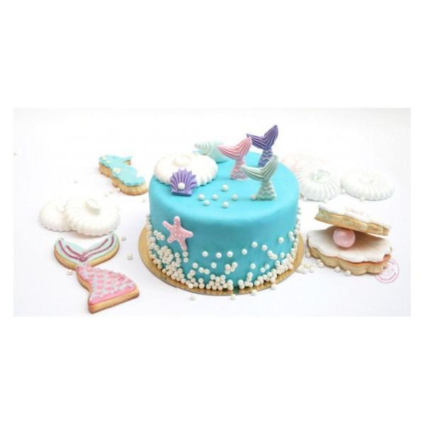 4 Découpoirs à biscuits et 6 décors sucrés - Sirène - Photo n°2