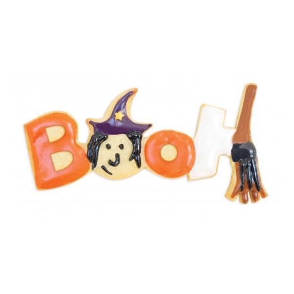 Découpoir à biscuits en inox Booh Halloween + stylos alimentaires noir et blanc - Photo n°2