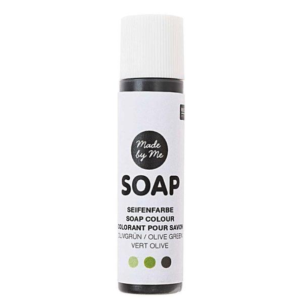 Colorant pour savon vert olive - 10 ml - Photo n°1