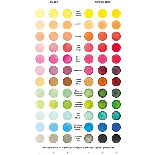 Colorant pour savon vert tilleul - 10 ml - Photo n°2