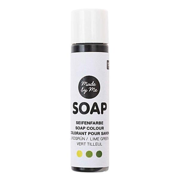Colorant pour savon vert tilleul - 10 ml - Photo n°1
