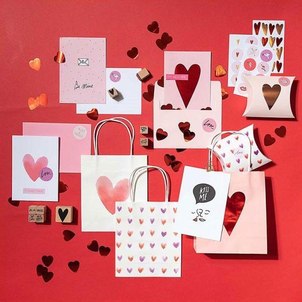 9 tampons bois avec encreur - Amour - Photo n°2
