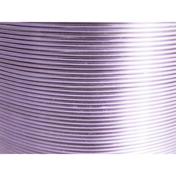 Bobine 235 M fil aluminium lilas clair 1mm - Photo n°1